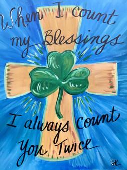 St. Patrick's Day Cross