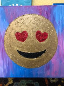 Glitter Heart Eyes Emoji