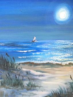 Night Beach Scene
