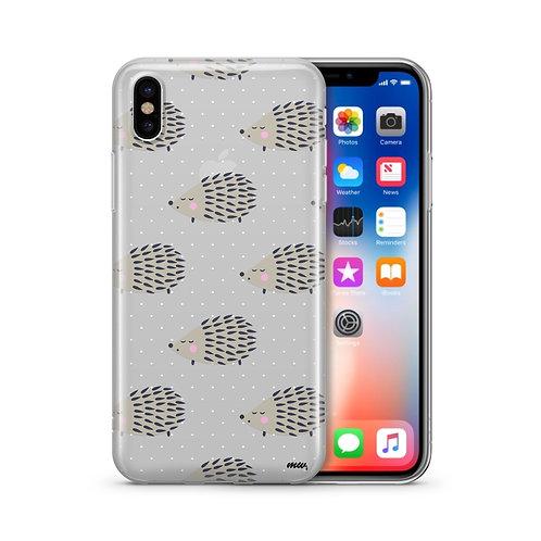 Hedgehog - Clear TPU iPhone Case