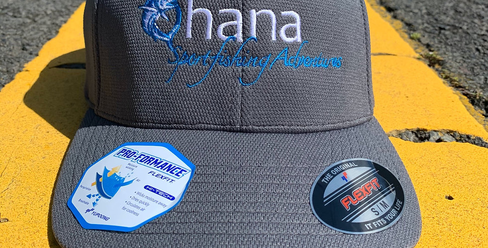Ohana Sport-Tek® Flexfit® Cool & Dry Poly Block Mesh Cap