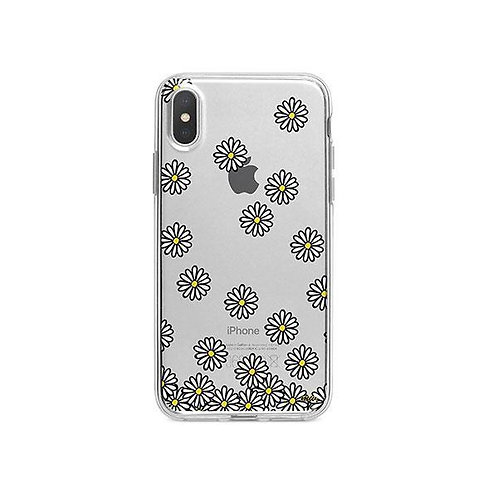 Falling Daisies - Clear TPU iPhone X Case