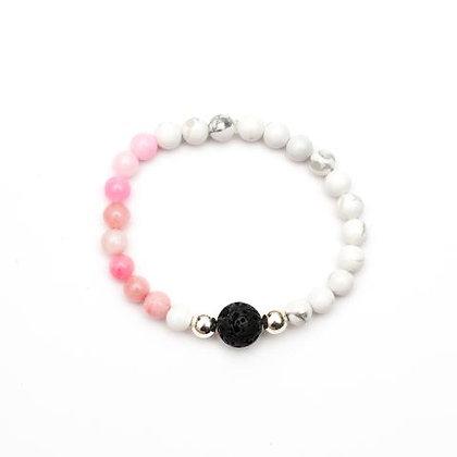 Dahlia - Pink Jade Diffuser Bracelet
