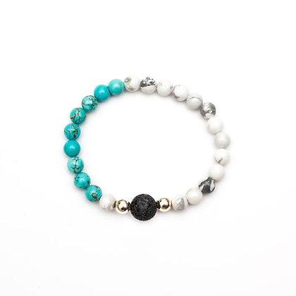 Dahlia - Magnesite Diffuser Bracelet