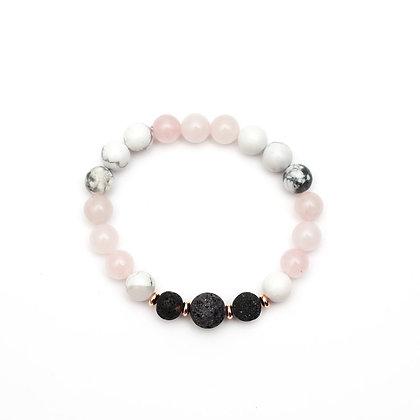 Zinnia - Rose Quartz Diffuser Bracelet