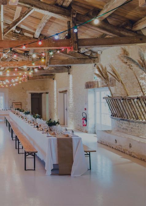 Svatební výzdoba stodoly
