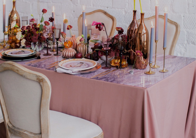 Svatební stůl výzdoba