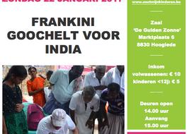Frankini goochelt voor India