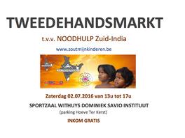 tweedehandsmarkt 2 juli