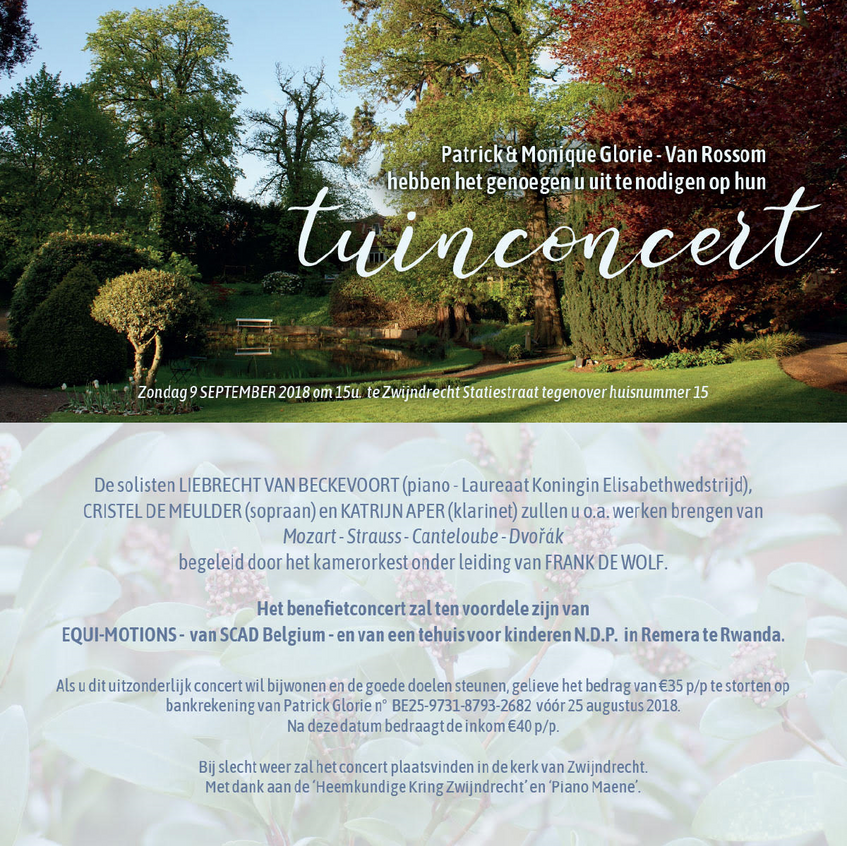 Uitnodiging tuinconcert