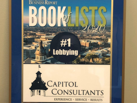 Capitol Consultants Recognized as #1 Lobbying Firm in Columbia Regional Business Report