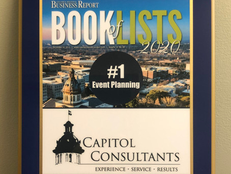 Capitol Consultants Recognized as #1 Event Planning Firm by Columbia Regional Business Report