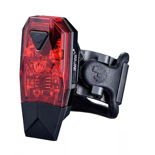 INFINI Mini-Lava super bright micro USB rear light, black with red lens