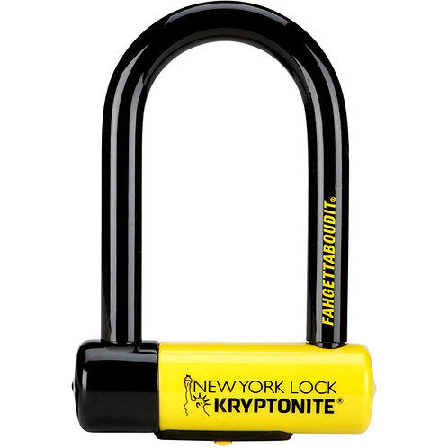 New York Fahgettaboudit Lock Sold Secure Gold