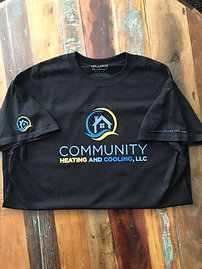 Community Heating- Black Short Sleeve