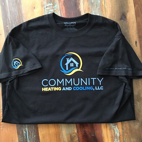 Community Heating- Black Short Sleeve