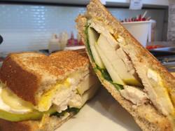 CHICKEN PEAR AND BRIE SANDWICH
