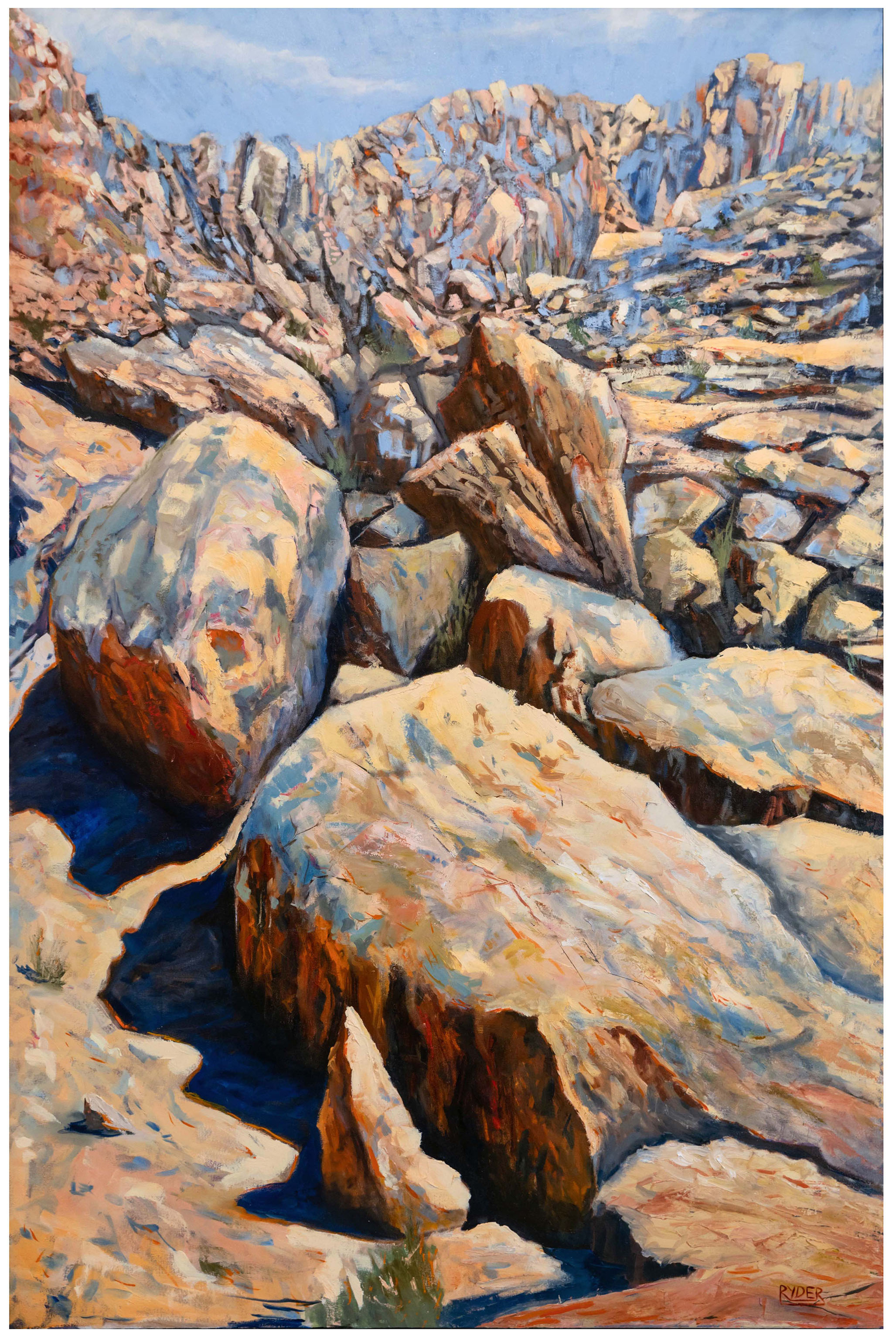 Jebel Hafeet climb - Oil on Canvas