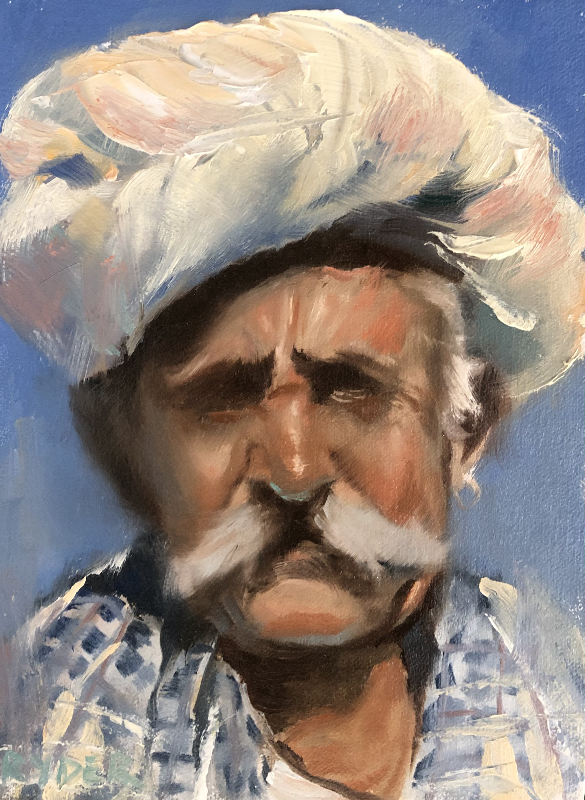 Fisherman head study