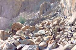 Wadi Naqab rock fall