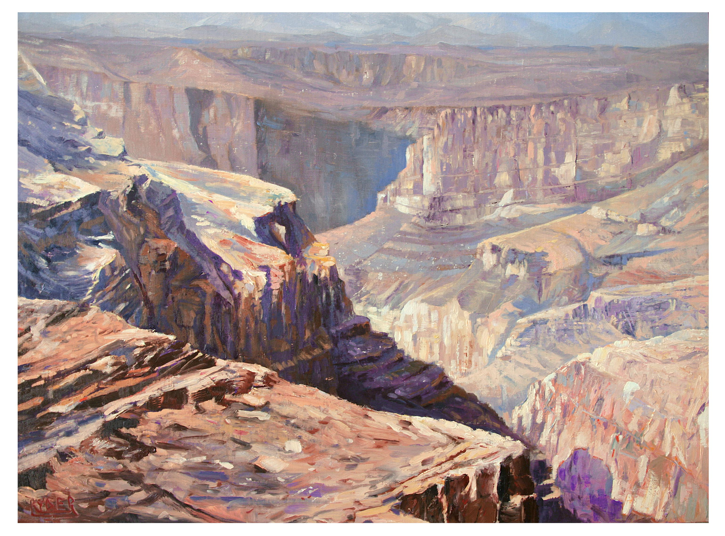 Jebel Akhdar - Oil on Linen