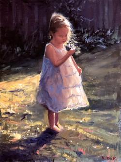 In the garden - oil on linen