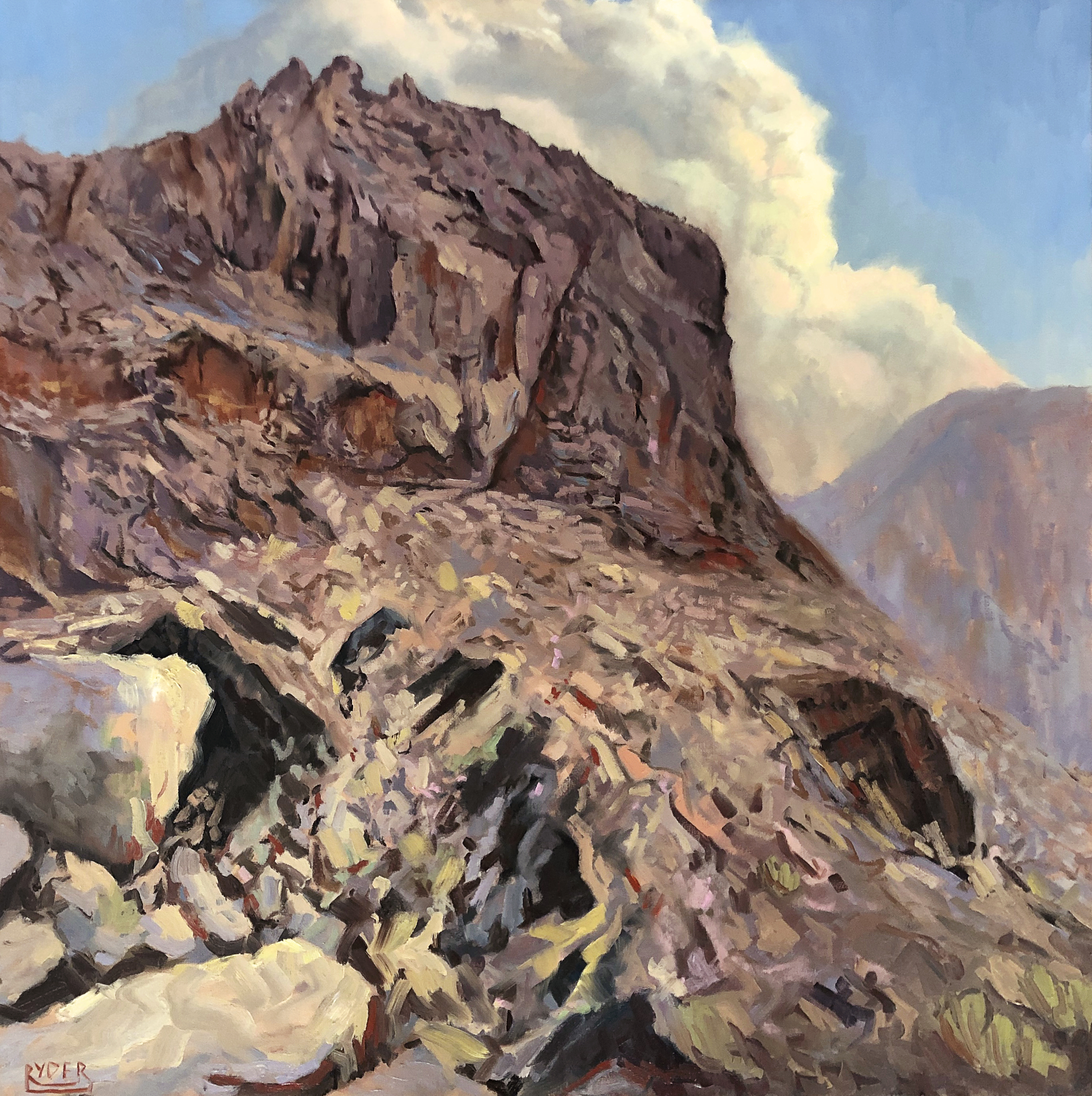 Mleiha ascent - Oil on canvas