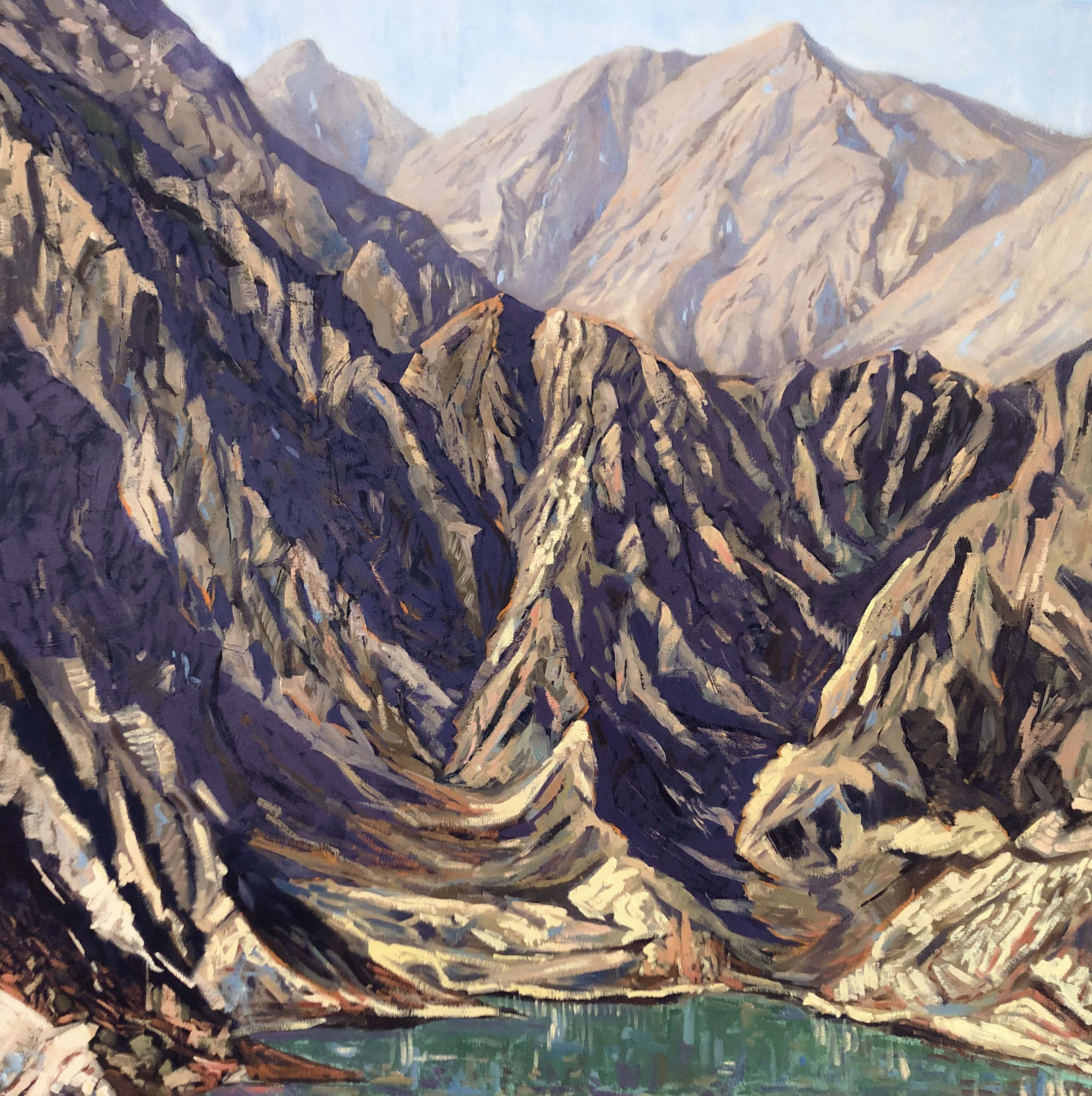 Hatta Dam - Oil on Canvas.
