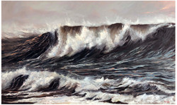 White horses - Oil on Canvas
