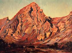 Low sun at Jebel Hafeet-Oil on linen