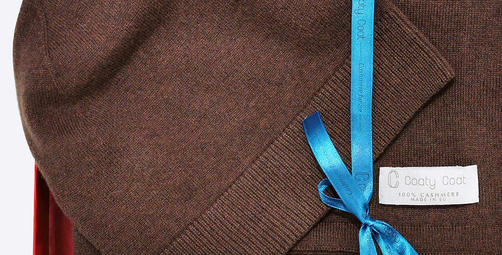 Kašmyro kepurė ir šalikas rudos sp.
