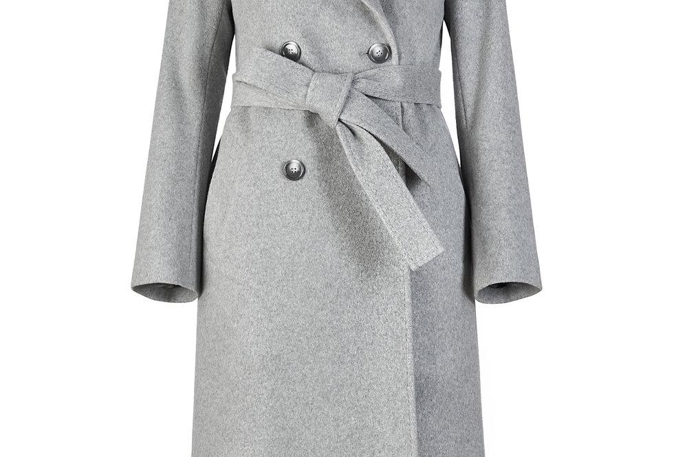 Elegantiškas pilkos spalvos paltas