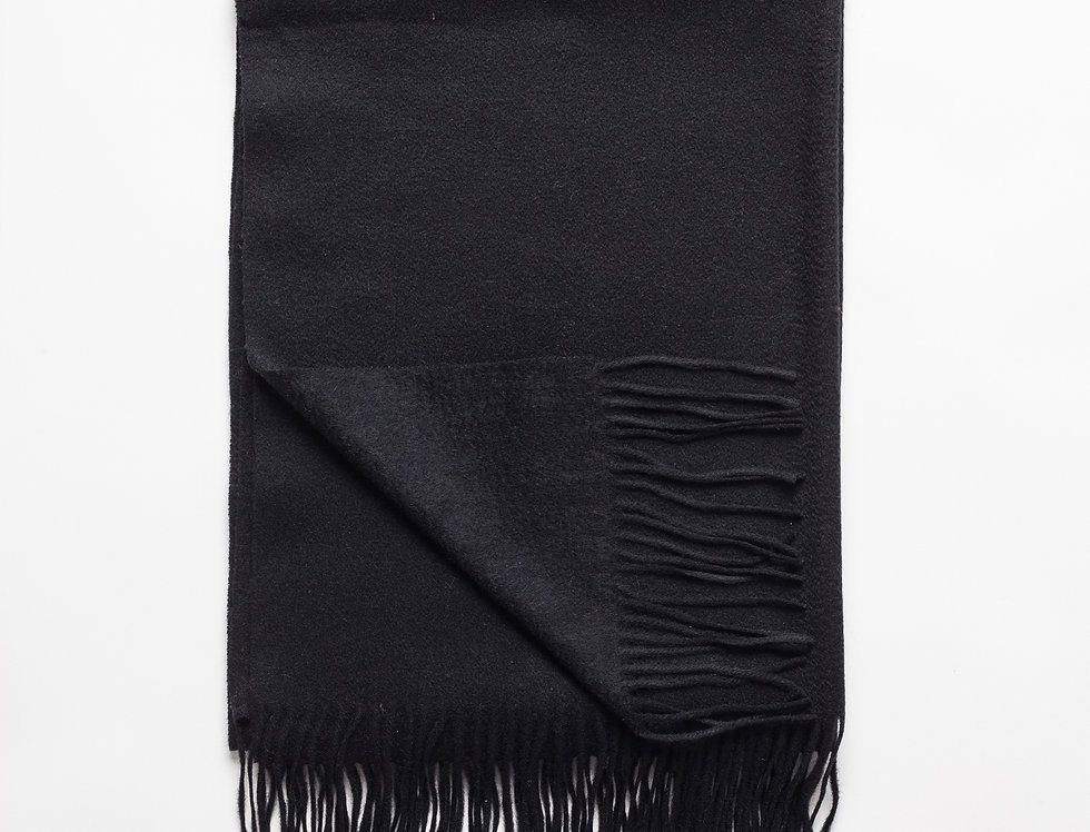 Kašmyro šalikas 200x70 cm juodas