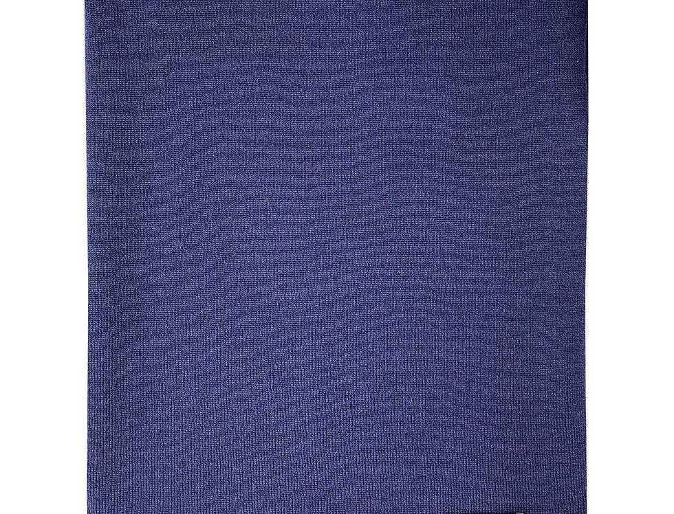 Mėlynos spalvos kašmyro ir merino vilnos šalikas