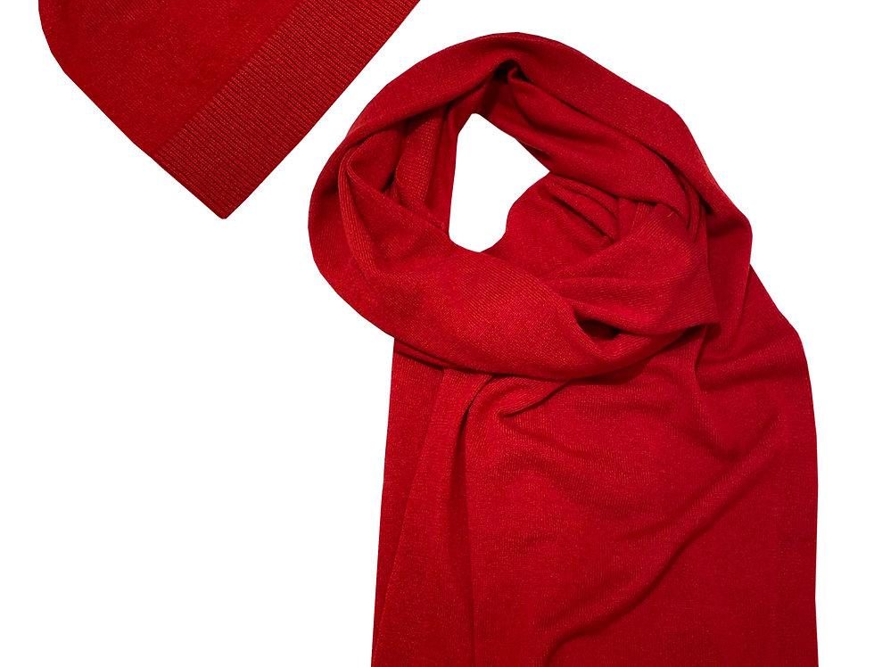 Kašmyro kepurė ir šalikas raudonos sp.