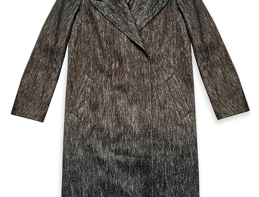 Elegantiškas mocheros ir vilnos paltas