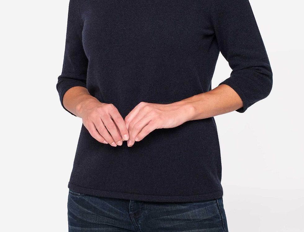 Kašmyro megztinis patrumpintomis rankovėmis