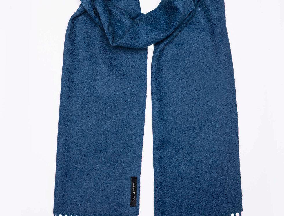 Kašmyro šalikas 180x30 cm mėlynas