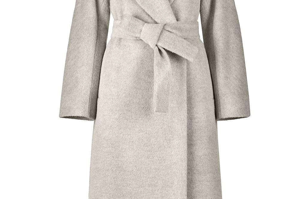 Smėlio spalvos alpakos vilnos ilgas paltas