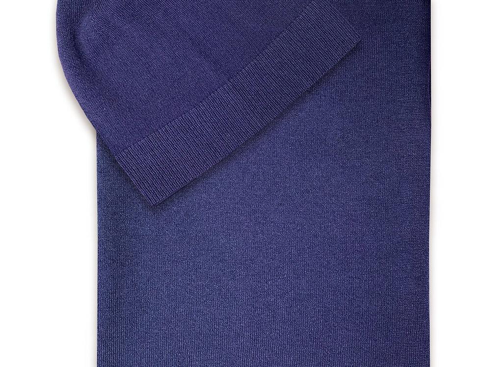 Mėlynos spalvos kašmyro ir merino vilnos komplektas