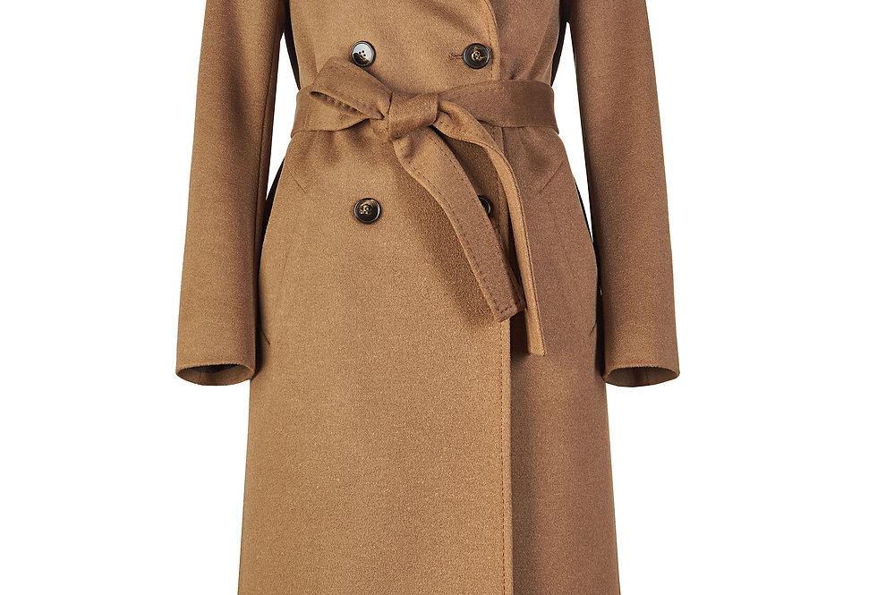 Elegantiškas kupranugario spalvos paltas