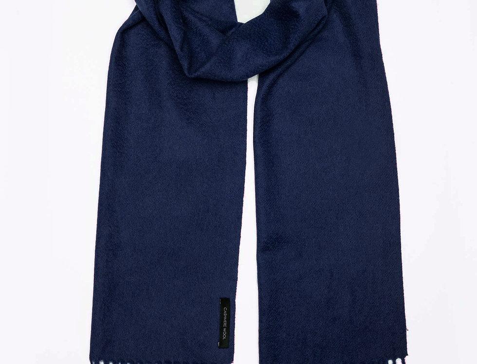 Kašmyro šalikas 180x30 cm t.mėlynas