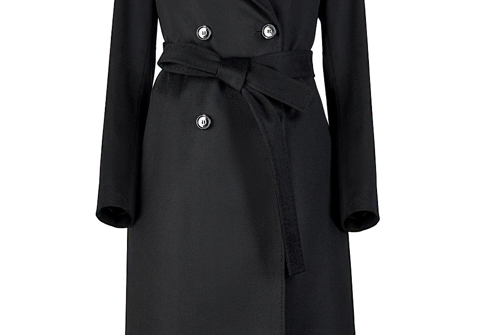 Elegantiškas juodos spalvos paltas