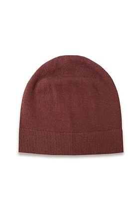 Šokolado spalvos kašmyro ir merino vilnos kepurė