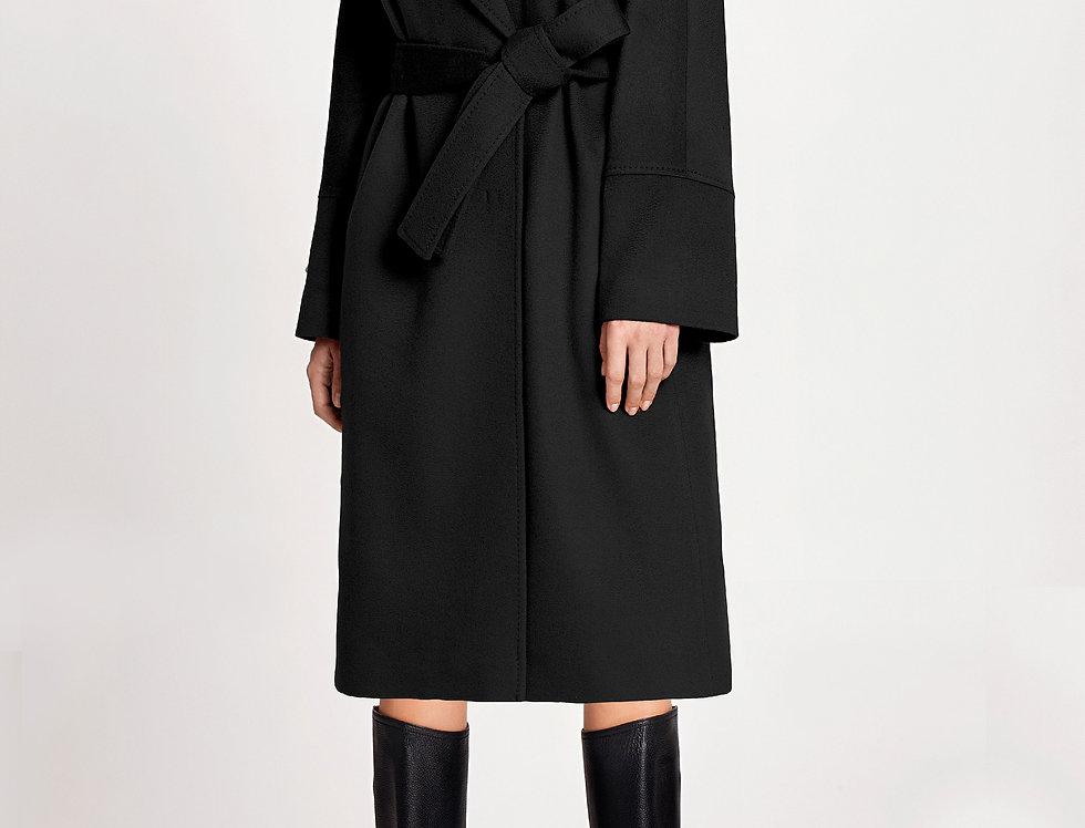 Juodas 100% kašmyro paltas