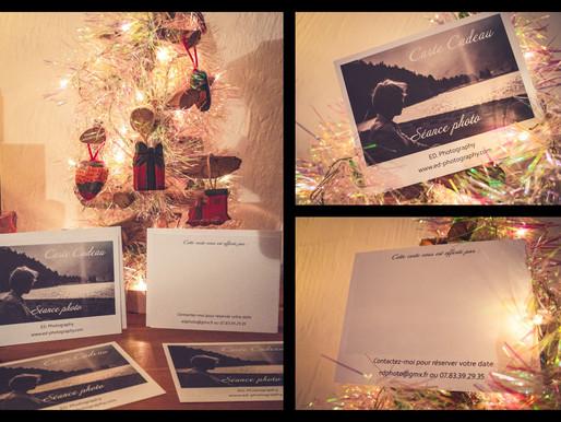 La Carte Cadeau E.D. Photography est arrivée ! Offrez un shooting photos à vos proches, famille etc