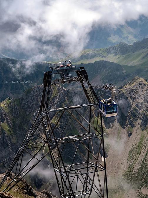 La télécabine du Pic du Midi, Hautes-Pyrénées