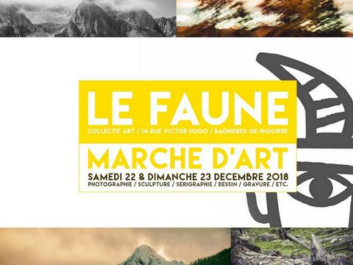 Exposition/vente au marché d'art de Noël au Faune les 22 & 23 Décembre 2018 à Bagnères de Bigorre.