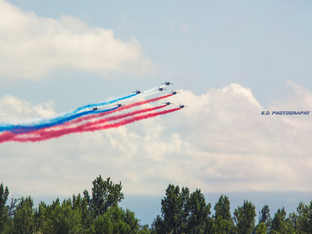 La Patrouille de France à Tarbes, 9 juillet 2021