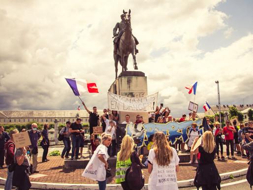 Manifestation à #Tarbes pour dire non au #pass #sanitaire et au #vaccin #obligatoire  (7 août 2021)